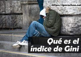 Índice de Gini. La desigualdad social y sus consecuencias