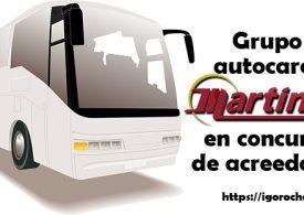 Grupo Autocares Martínez, en concurso de acreedores