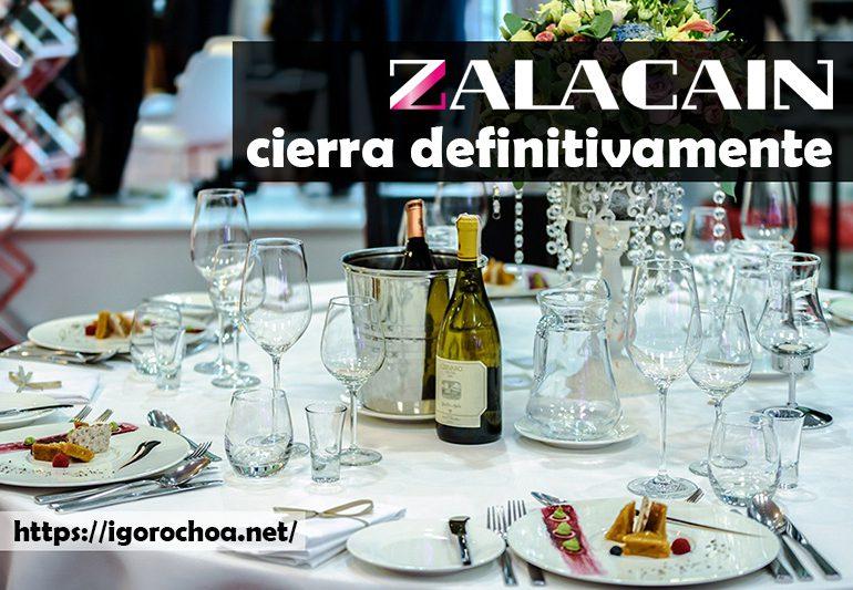 El restaurante Zalacaín cierra sus puertas
