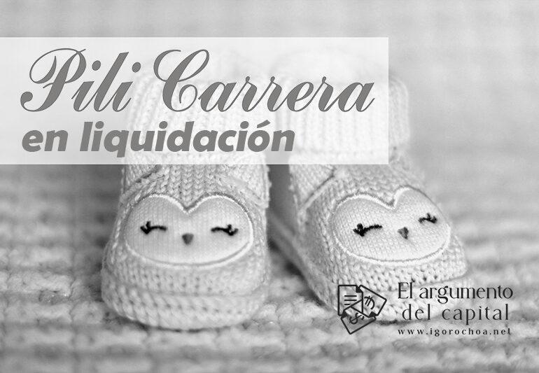 Pili Carrera, en liquidación