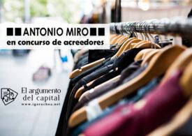 La firma de moda Antonio Miró, en concurso de acreedores