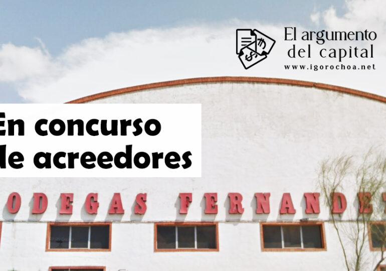 Bodegas Fernández, en concurso de acreedores