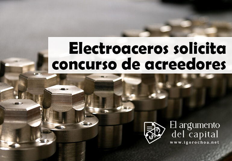 Electroaceros presenta concurso de acreedores