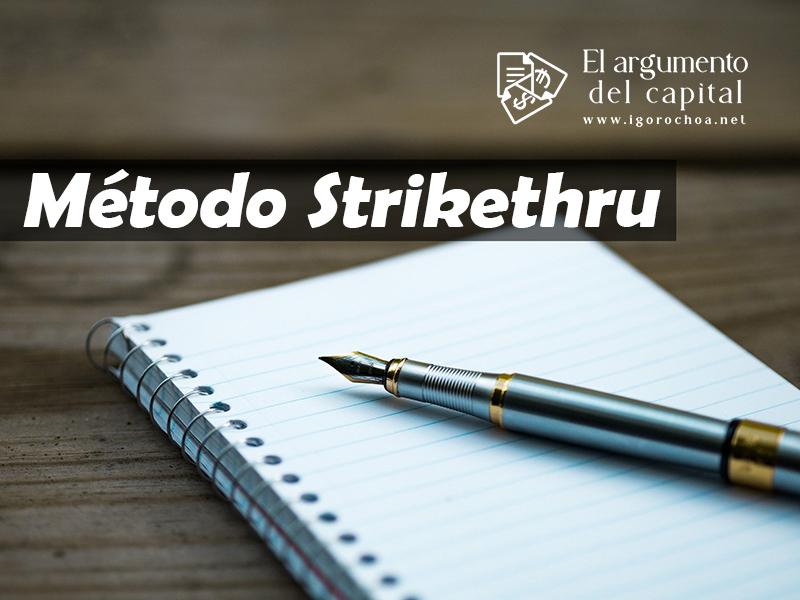 Método Strikethru. Organiza el día a día
