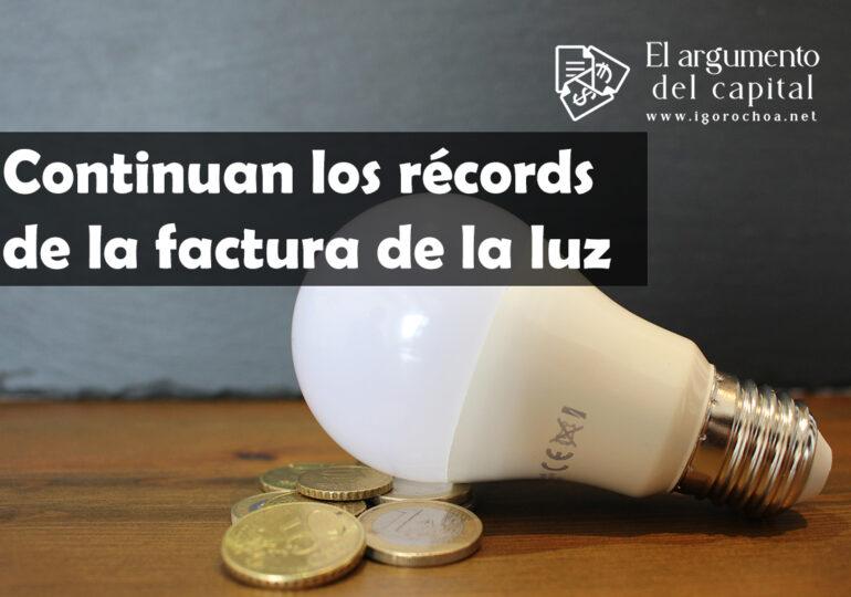 ¿Seguirán los récords del precio de la electricidad en España?
