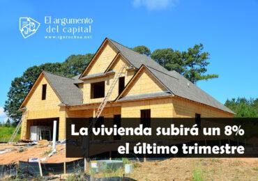 Aumento del precio de la vivienda en el último trimestre de 2021